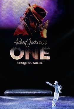 A Cirque du Soleil performer at the Michael Jackson show