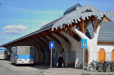 Imre Makovecz's Bus Terminal in Mako city, Hungary