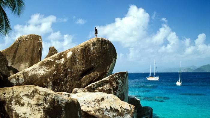 B0HBYE Rock formation, Virgin Gorda, British Virgin Islands, Lesser Antilles, Caribbean