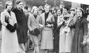 The Mitford family at Swinbrook House in January 1935