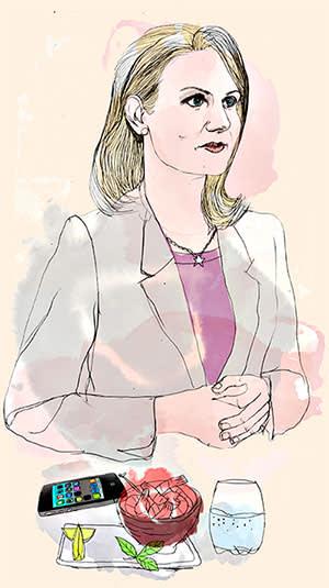 Illustration of Helle Thorning-Schmidt