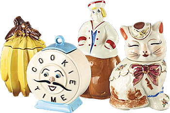 Part of Andy Warhol's cookie jar collection
