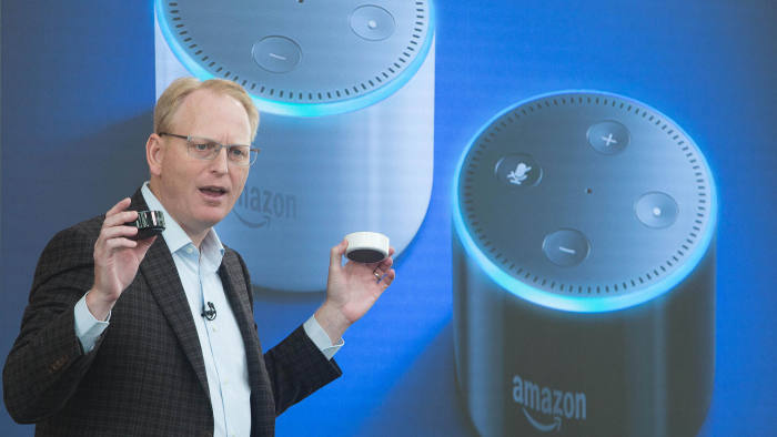Dave Limp, senior vice-president for Amazon devices and services, introduces the Amazon Echo