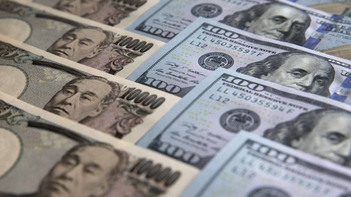 Japanese 10,000 yen and U.S. 100 dollar banknotes are arranged for a photograph in Tokyo, Japan, on Monday, June 20, 2016. Japanese shares fell, with the Topix index dropping for the first time in three days, as the yen rose ahead of the U.K. decision on European Union membership and investors awaited testimony from Federal Reserve Chair Janet Yellen. Photographer: Tomohiro Ohsumi/Bloomberg