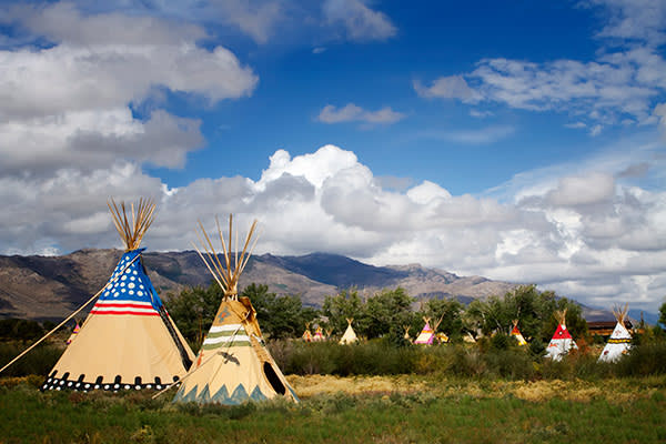 The ranch has 10 tepees as well as wooden guest cottages
