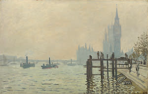 The Thames below Westminster (c1871)