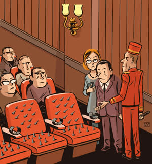 An illustration depicting the irritation and anger that accompanies a night in the West End