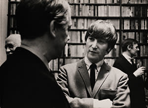 John Lennon talking to Kingsley Amis at a Cape party
