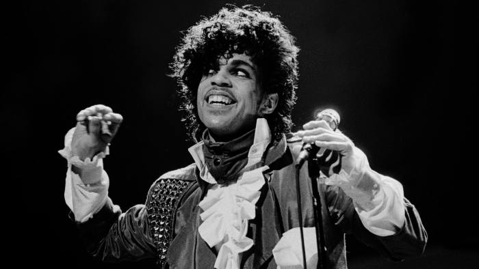 Prince on stage in Chicago in 1982