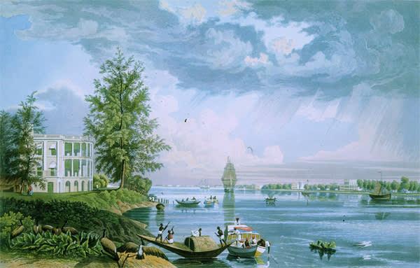 View of Botanic Garden House and Reach, Calcutta, 1829