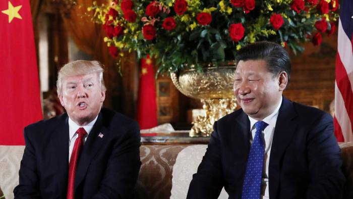 US President Donald Trump welcomes Chinese President Xi Jinping at Mar-a-Lago state in Palm Beach, Florida
