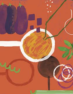 Caponata – sweet and sour aubergine stew