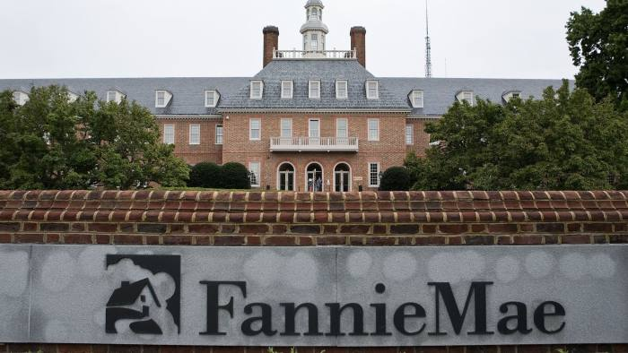 Fannie Mae headquarters stands in Washington, D.C., U.S., on Tuesday, Sept. 8, 2009. Fannie Mae and Freddie Mac, the mortgage-finance companies seized by U.S. regulators a year ago, avoided delisting on the New York Stock Exchange after their shares more than tripled last month. Photographer: Joshua Roberts/Bloomberg