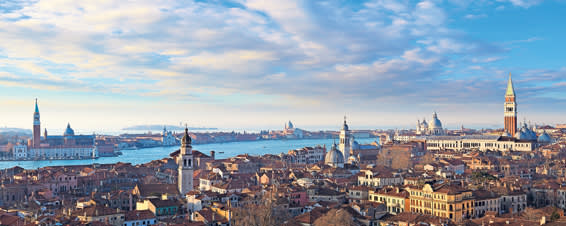 View over the Castello district of Venice, seen from the belfry of San Francesco della Vigna church