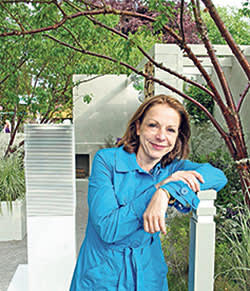 Garden designer Jo Thompson, who was commissioned to design M&G Investments' garden