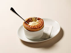 Wright Brothers' prune and calvados soufflé