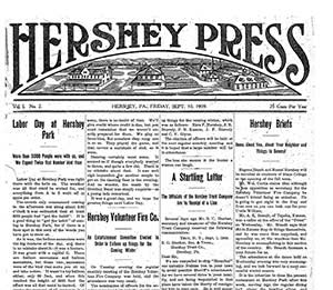 The Hershey Press, launched in 1909 by the Pennsylvania-based chocolate maker