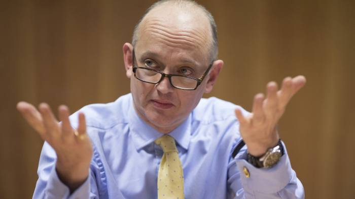 FT Money round table. Picture shows City editor of the FT, Jonathan Guthrie. FT Money round table.