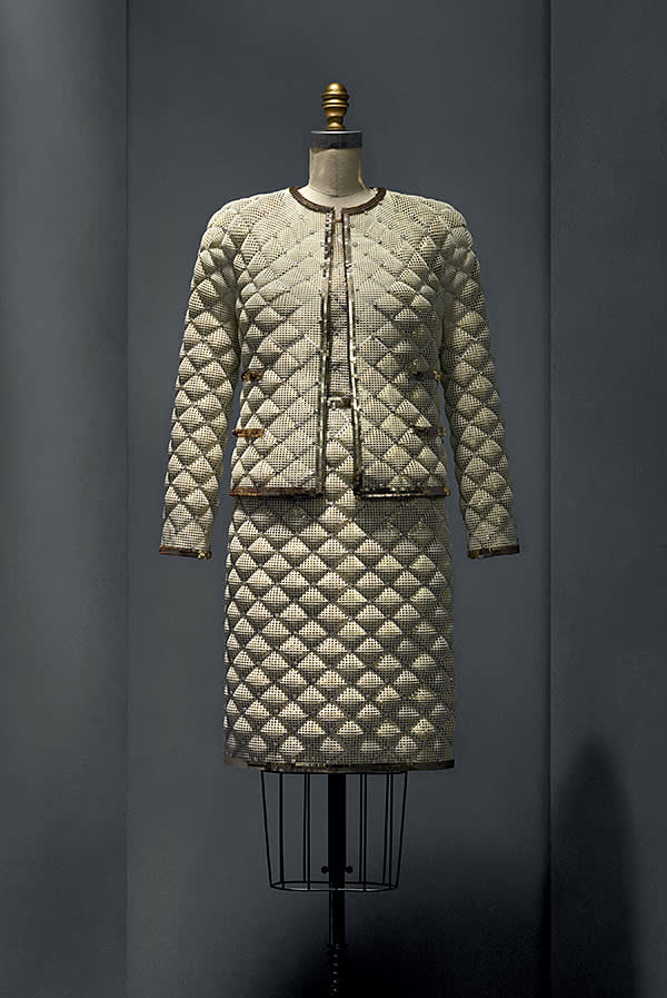 Exhibit from the 'Manus x Machina' show, by Karl Lagerfeld for Chanel