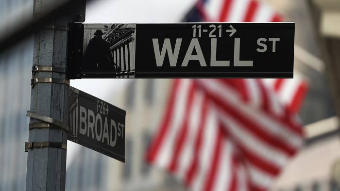 A Wall Street sign near the New York Stock Exchange