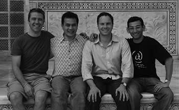 From left: co-founders Philip Inghelbrecht, Avery Wang, Chris Barton and Dhiraj Mukherjee
