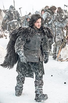 Actor Kit Harington playing Jon Snow, a Night's Watch soldier