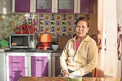 Enkhtuya Baatar at home in Ulan Bator
