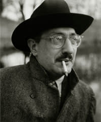 A black and white picture of Mark Rothko