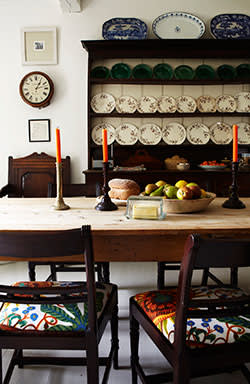 The Dorset home's dining area