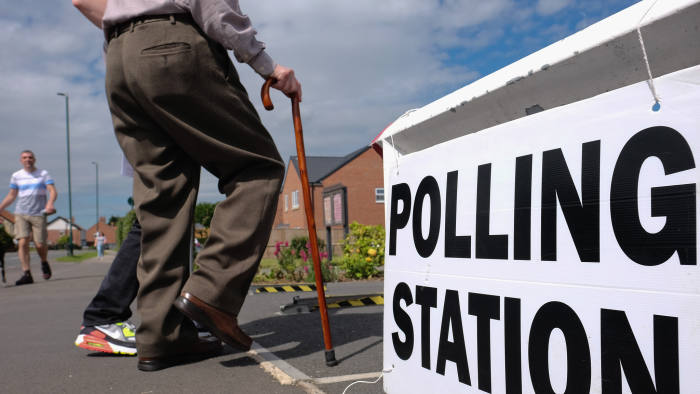 REDCAR, UNITED KINGDOM - JUNE 23: A man walks into a polling station at Marske Methodist church as voters head to the polls to cast their vote on the EU Referendum on June 23, 2016 in Redcar, United Kingdom. The United Kingdom has gone to the polls to decide whether or not the country wishes to remain within the European Union. After a hard fought campaign from both REMAIN and LEAVE the vote is too close to call. A result on the referendum is expected on Friday morning. (Photo by Ian Forsyth/Getty Images)