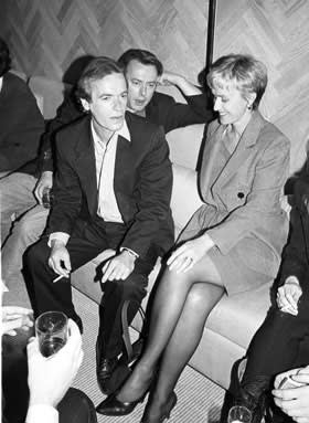 Martin Amis, Christopher Hitchens and Tina Brown, New York, 1995