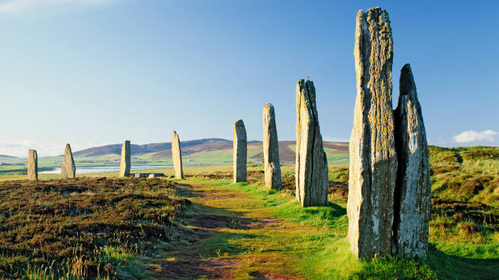 The Neolithic monuments of the Ring of Brodgar, on Orkney's Mainland Island
