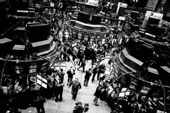 New York's Stock Exchange in 2008