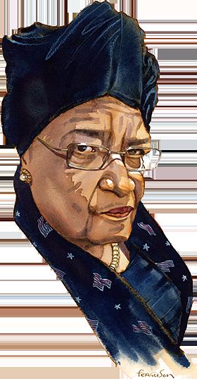 Illustration by James Ferguson of Ellen Johnson Sirleaf