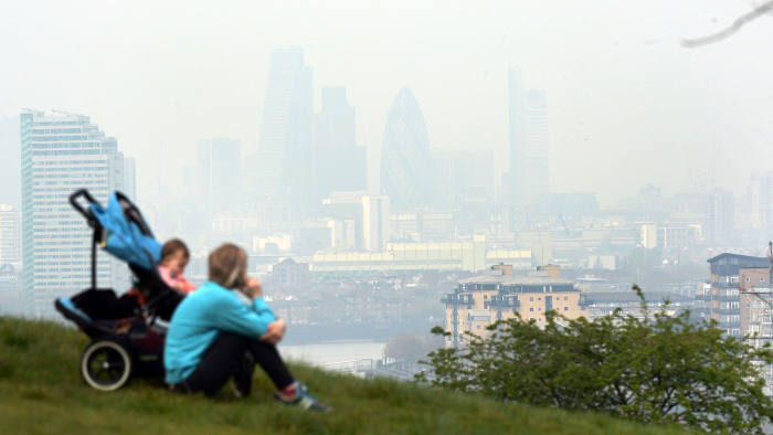 A clear problem: a haze of pollution hangs over London