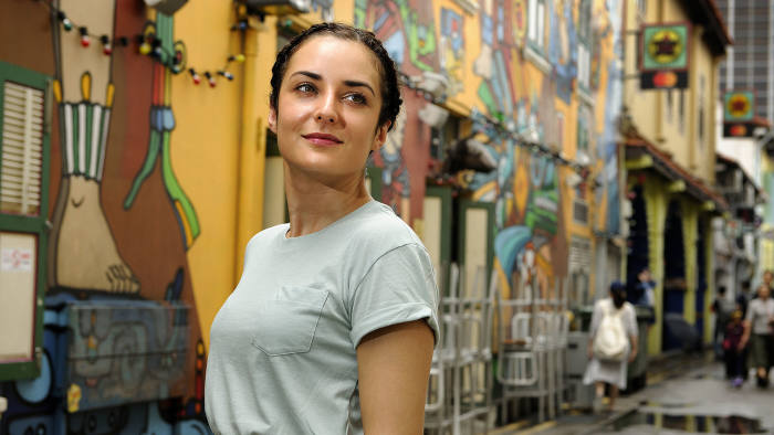 Anjuli Deo in the Arab district, near her office, in Singapore on Friday, October 27, 2017. Photo: Munshi Ahmed for The Financial Times.