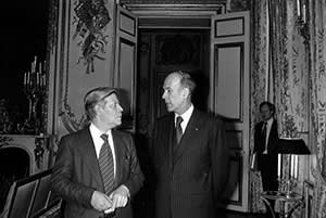 Valéry Giscard d'Estaing with Helmut Schmidt