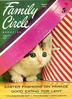 Family Circle magazine cover, 1955