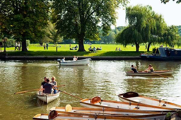 The river Avon provides
