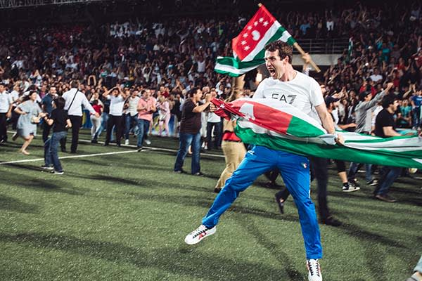 Abkhazia fan at the World Cup of Unrecognized States 2016