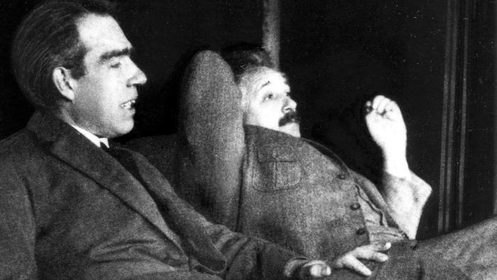 More than a match: Niels Bohr and Albert Einstein in 1925 at one of their debates on the philosophy of science