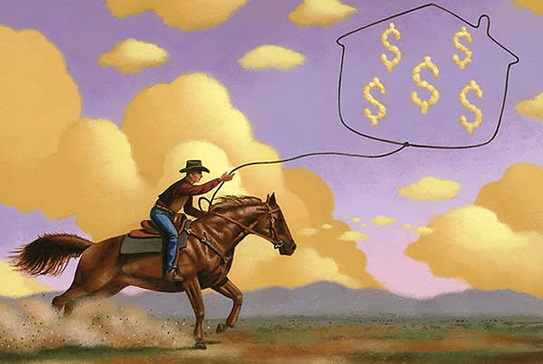 James Fryer's illustration of Texas property market