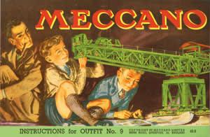 1949 blocksetting crane by Meccano