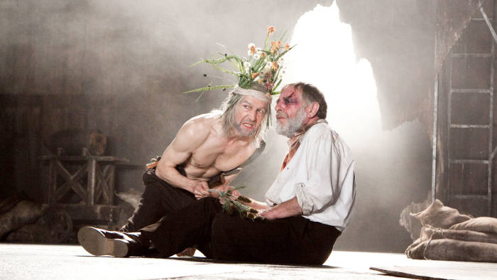 No Merchandising Mandatory Credit: Photo by Donald Cooper / Rex Features (1130199a) 'King Lear' - Greg Hicks (King Lear) and Geoffrey Freshwater (Earl of Gloucester) 'King Lear' play at The Royal Shakespeare Company in Stratford Upon Avon, Britain - 28 Feb 2010