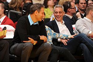 Rahm Emanuel with his brother Ari