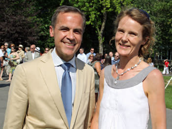 Mark Carney with wife Diana in 2011
