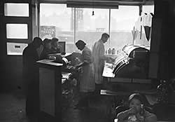 'Ideal' fish and chip shop in London, 1958