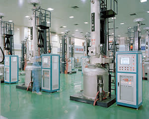 A workshop at the Jinglong plant in Ningjin, China