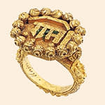 Indian gold ring said to be that of Tipu Sultan