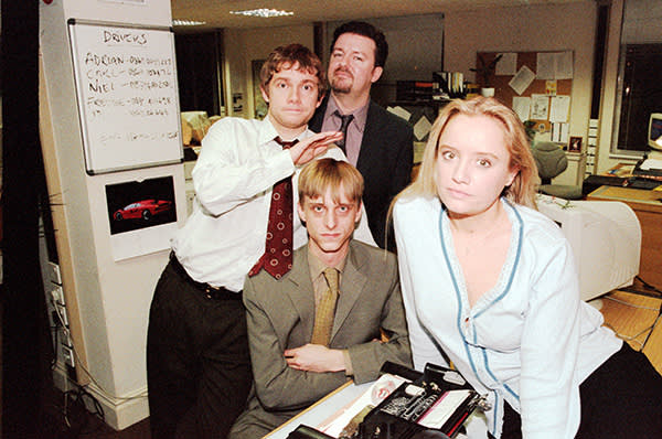 With cast members from 'The Office'